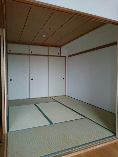 和室6帖 襖を開けるとLDKと一体化し開放的な空間です