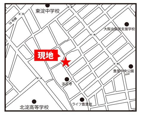 新築戸建豊里6丁目地図