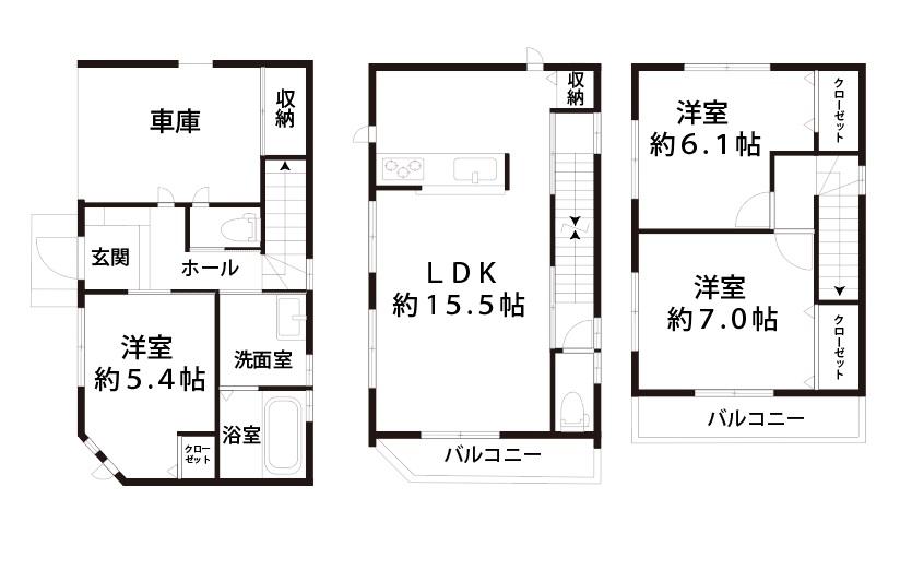 新築戸建豊里6丁目図面