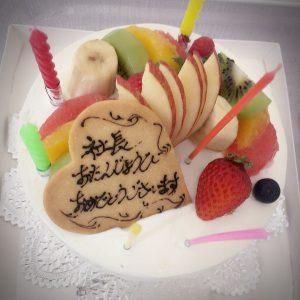 松倉社長の誕生日ケーキ