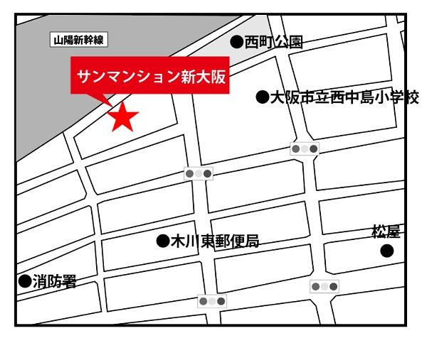 サンマンション新大阪地図