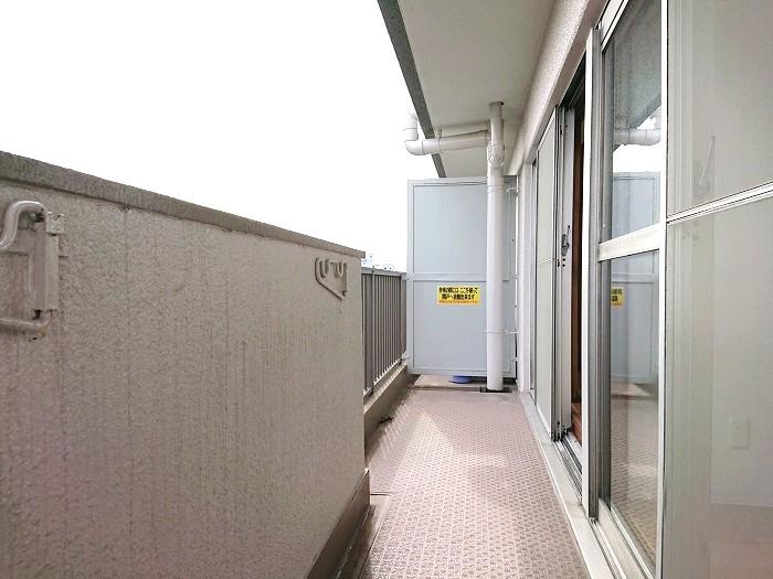 北野ハイツ510号室バルコニー