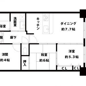 【中古マンション】リバライン井高野3号棟 3DK