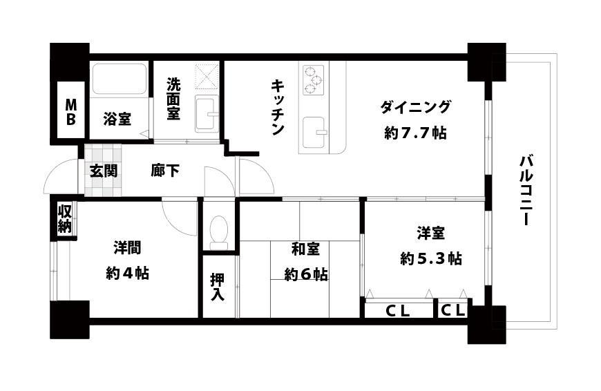 リバライン井高野3号棟 8階 間取り