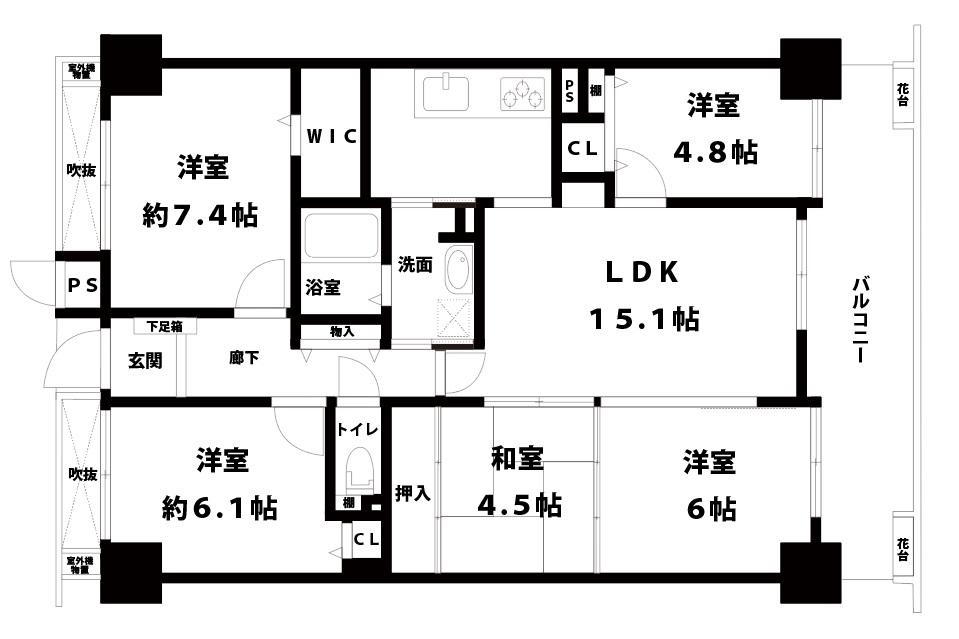 【中古マンション】コスモシティ千林大宮4LDK・間取り・口コミ情報