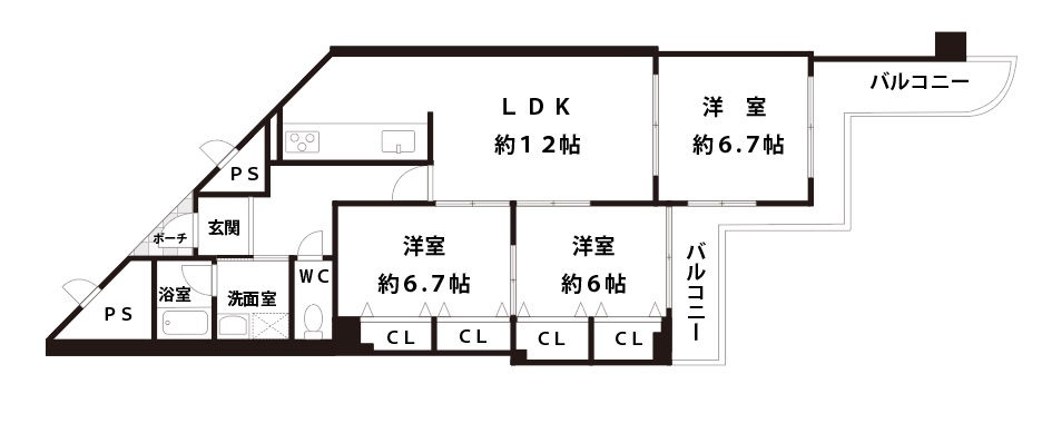 エバーグリーン淀川3号館 間取り詳細
