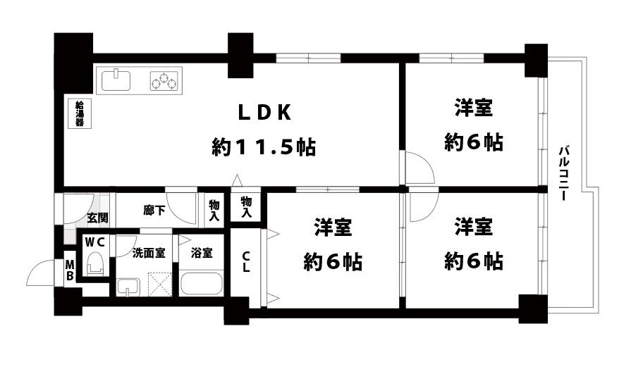 北野ハイツ3階