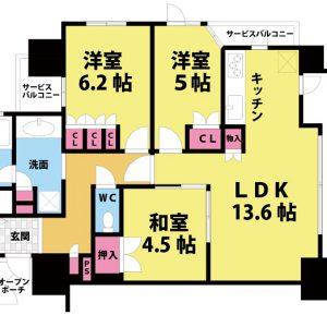 【中古マンション】フィオレ菅原公園 3LDK 角部屋 オール電化マンション
