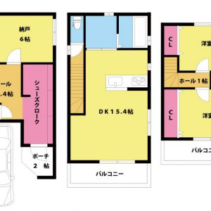 【新築戸建て】大阪市東淀川区小松2丁目 2SLDK