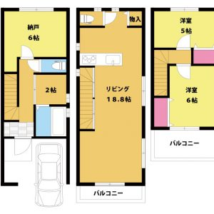 【新築戸建て】大阪市東淀川区小松2丁目 2LDK+S 上新庄駅