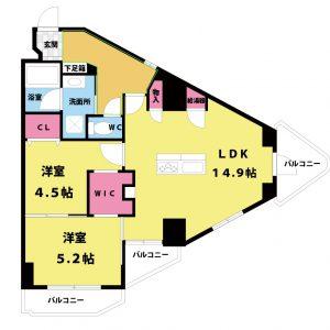【中古マンション】新大阪ハイツ 2LDK 東淀川区東中島1丁目