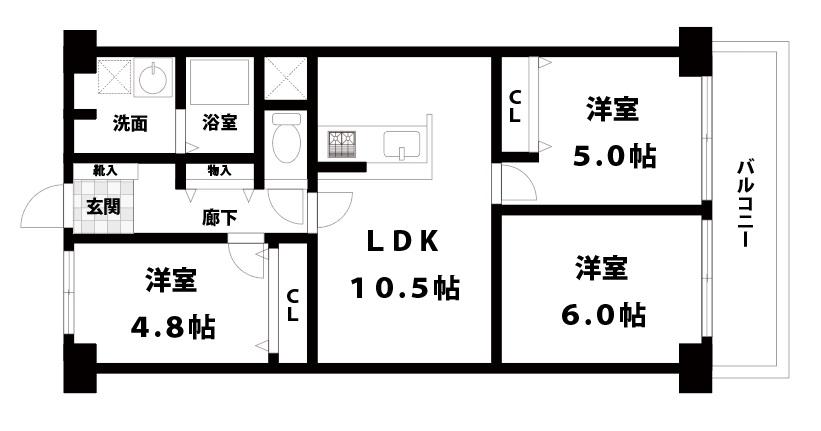【中古マンション】八戸ノ里スカイハイツ 東大阪市西岩田3丁目