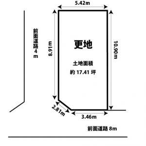 【売土地】東淀川区豊新2丁目 上新庄駅徒歩11分