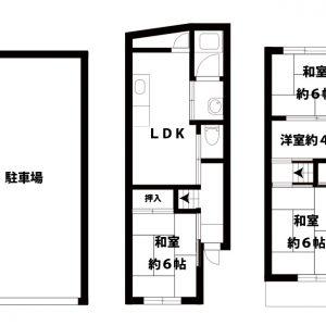 【中古一戸建て】東淀川区井高野2丁目 4LDK