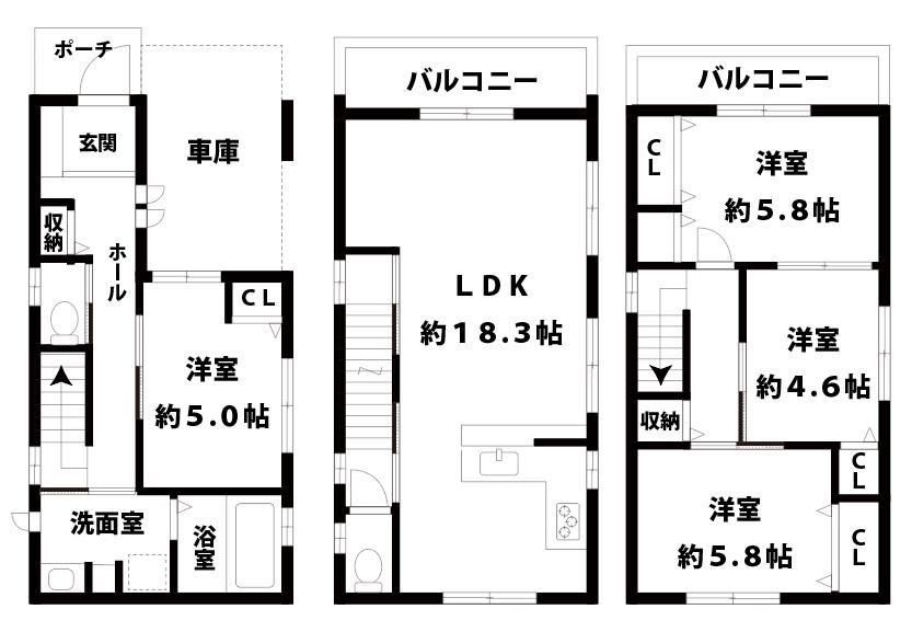 大阪市東淀川区相川2丁目14-16【新築一戸建て物件】4LDK