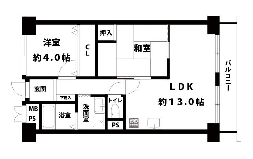ローズコーポニュー大阪4階
